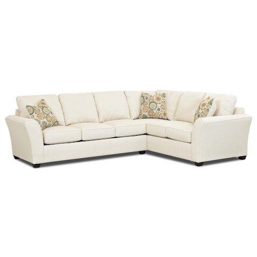 Klaussner Sedgewick Transitional 2 Piece Sectional Sleeper Sofa with Innerspring Mattress