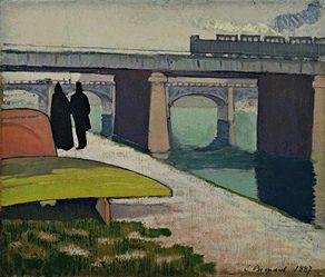 Emile Bernard - Iron Bridges at Asni둹es, 1887   Flickr - Photo Sharing!