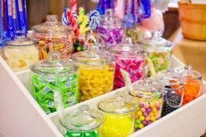 potes de vidro para doces de festa - Pesquisa Google