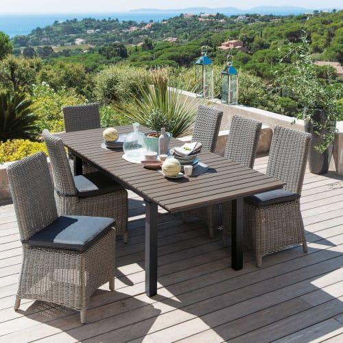 Table De Jardin En Aluminium Gris L 213, Patio Furniture Escondido