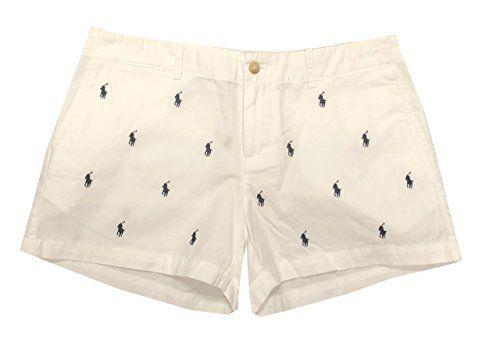 Polo Ralph Lauren Womens Multi Pony Logo Mini Shorts Pantalones Cortos Para Mujer