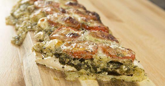 Baked pesto chicken, Pesto chicken and Pesto on Pinterest