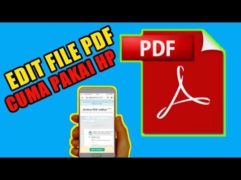 Cara Edit File Pdf Youtube Di 2020 Belajar Youtube Teknologi