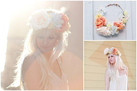 DIY de primavera - Coroa de Flores