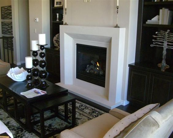 A lovely modern fireplace.
