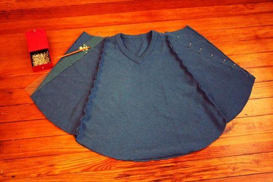 sweater recon, makes a poncho