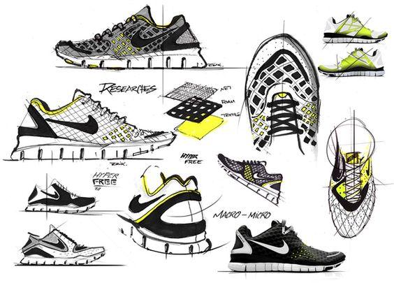 Trail Running Shoe Sketch