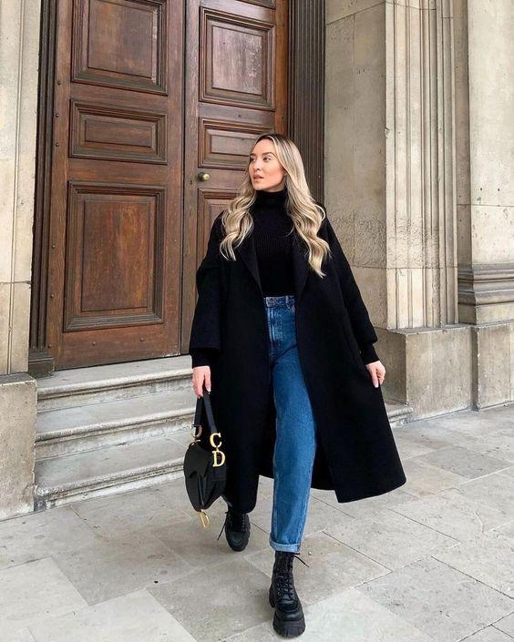 Look versátil com calça jeans e coturno