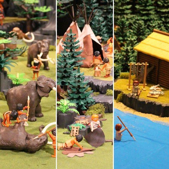 les différentes périodes de la préhistoire en playmobil par dominique bethune