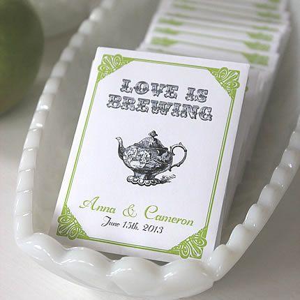 LOVE is BREWING Par-Tea™ Favors Wedding by BushelandPeckPaper
