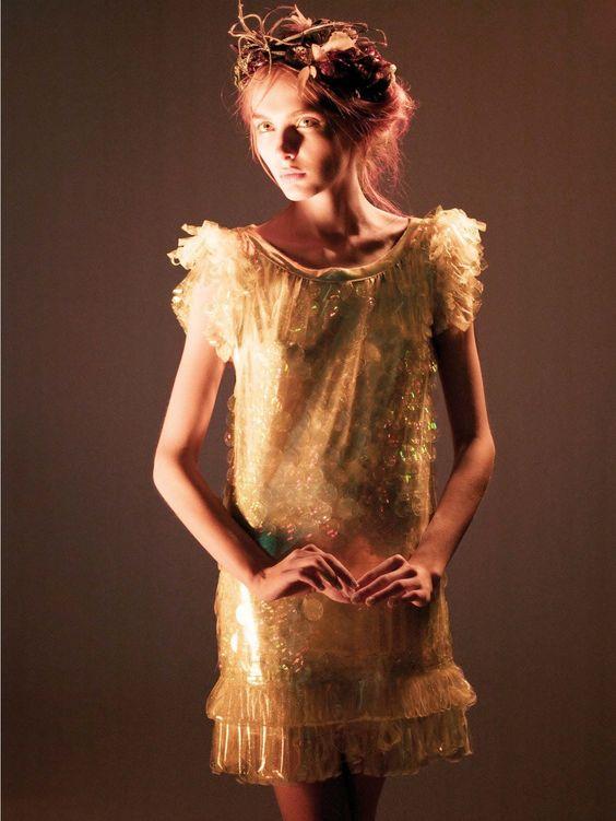 Snejana Onopka by Daniel Jackson In Highlights from Milan for Vogue Italia