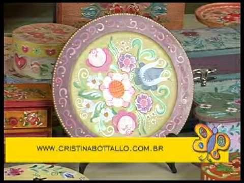 Artesanato na Escola - Cristina Bottallo - DVD Bauernmalerei - YouTube