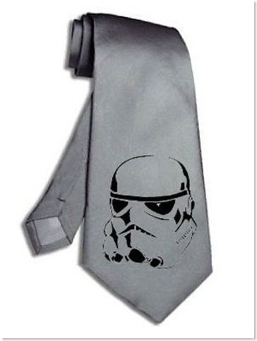 Storm Trooper Tie. how awesome would this be for the groomsmen?