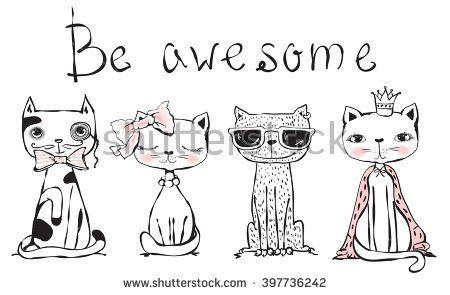 Cat Vetores e Vetores clipart Stock | Shutterstock
