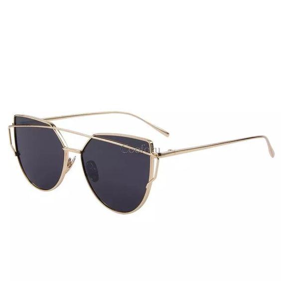 Sunglasses Black and gold sunglasses Accessories Glasses