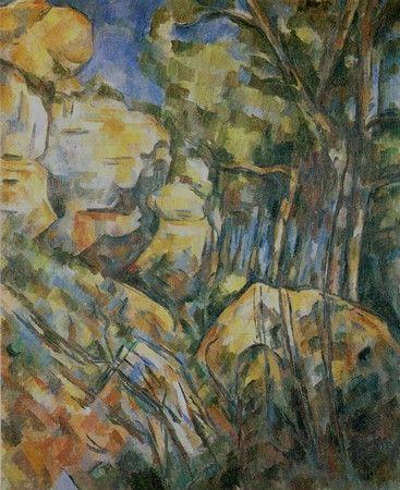 P. Cézanne - Rochers près des grottes au dessus de château ...