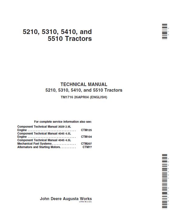 john deere 5210 wiring diagram john diy wiring diagrams john deere wiring diagram description john deere 5210 5310 5410 5510 tractor technical manual tm 1716 repair manual