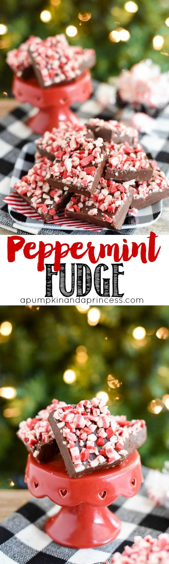Peppermint Fudge Recipe - easy 5-ingredient peppermint fudge recipe MichaelsMakers A Pumpkin And A Princess