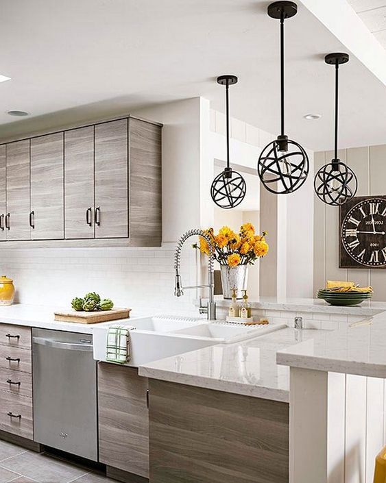 25+ Inspiational Kitchen Design Ideas For 2018 #kitchens #kitchendesign #kitchendesignideas