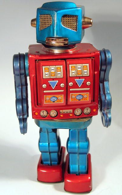 Image detail for -Japanese Space Tin Robot W/ Guns Battery Operated @N_G_M_Magazine #pimzond #robots #sci-fi
