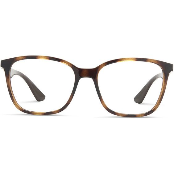 1e8101444f5 Ray-Ban 7066 Tortoise w Brown ( 140) ❤ liked on Polyvore featuring ...