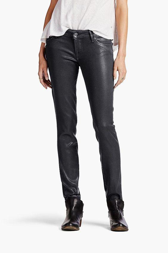 Lucky Brand Lolita Skinny Womens Skinny Jeans - Black Coated