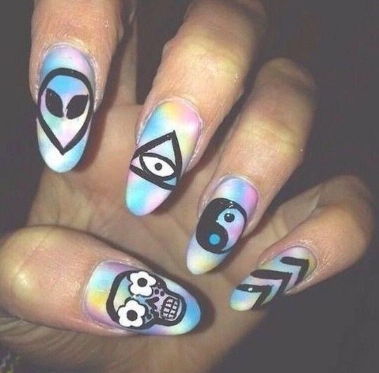 Rave Almond acrylic nails