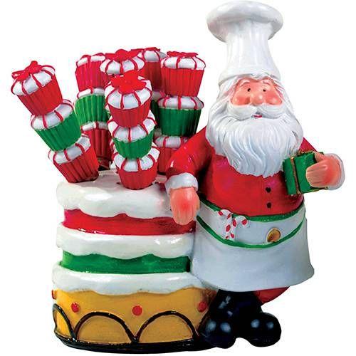 Porta Espatulas Papai Noel 5 Pecas Santini Nas Lojas Americanas