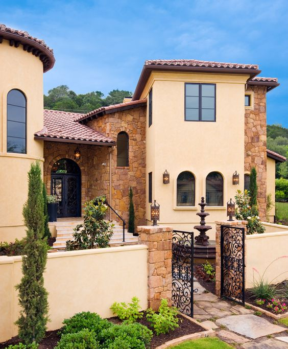 Exterior Pictures Of Mediterranean Style Homes Cities: Mediterranean Tuscan Style Home/House