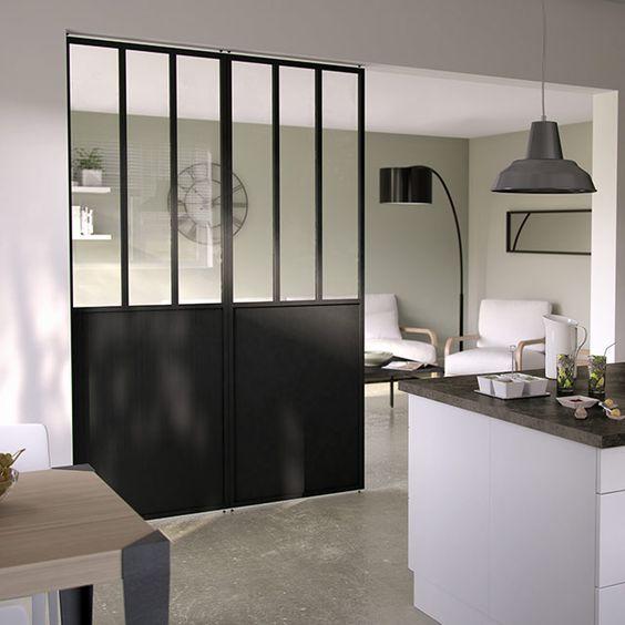 des cloisons amovibles tendances et pas ch res bureaux atelier et cuisine. Black Bedroom Furniture Sets. Home Design Ideas
