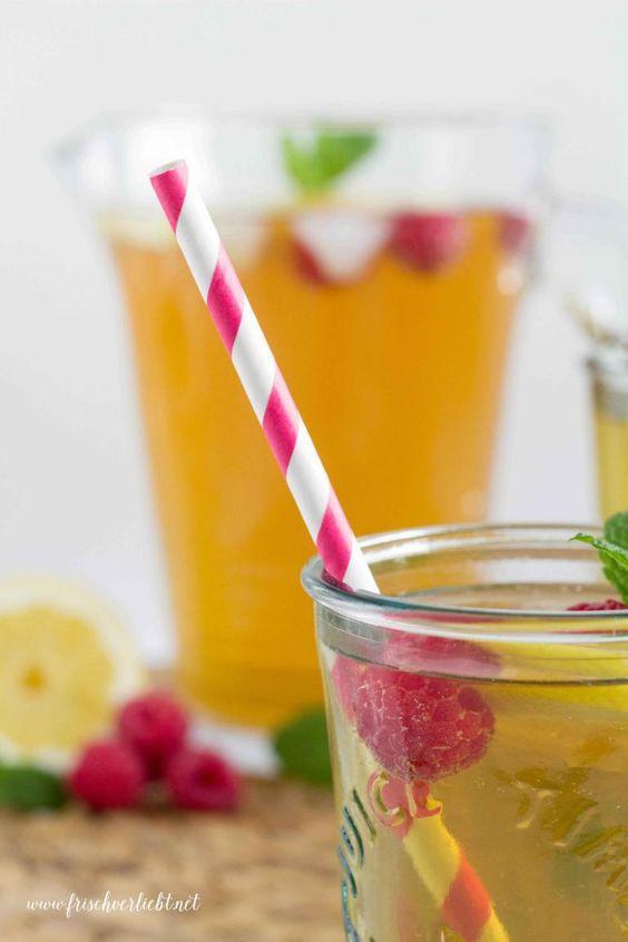 Frisch Verliebt: Sommergetränk mit Himbeeren
