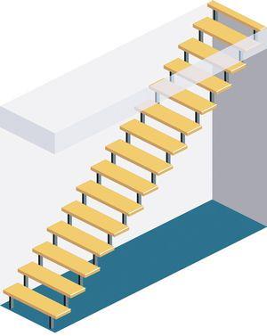 Einläufige Treppe