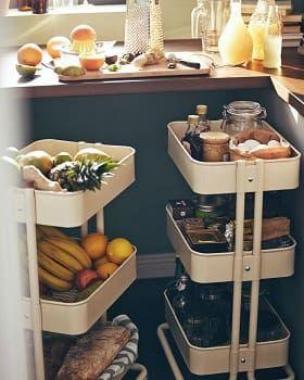 イケアraskogワゴンの使い方ベビーキッチン収納アイディア Kitchen Inspirations Cool Kitchens Ikea Kitchen