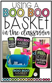 The Primary Peach: Using a Boo Boo Basket in the Classroom!