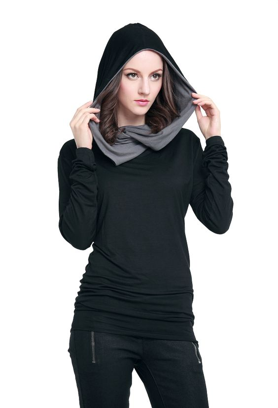 Black and grey hoodie sweatshirt
