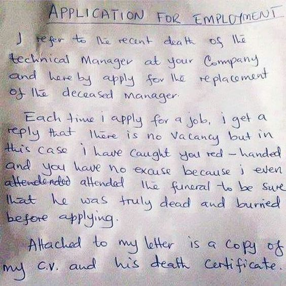 Job application giggles Pinterest - job application