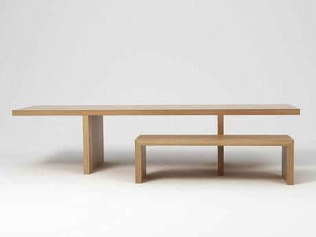 Cappellini Hope Dining Table and Hope Dining Bench designed by Italian architect Claudio Silvestrin