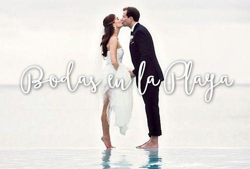 Inspírate con estos ejemplos e ideas de bodas en la playa.