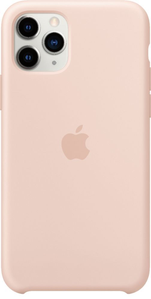 Apple Iphone 11 Pro Silicone Case Pink Sand Mwym2zm A Best Buy In 2021 Iphone Apple Iphone Iphone 11