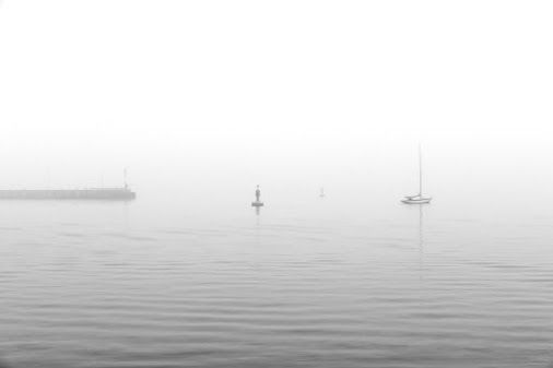 Fog on the Kiel Fjord