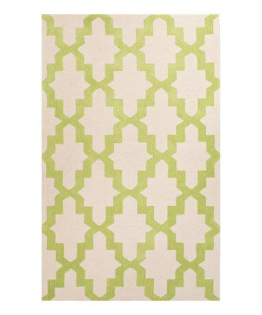 This Green & White Brio Rug by Jaipur Rugs is perfect! #zulilyfinds