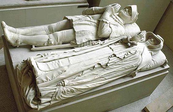 Barthélemy PRIEUR Berzieux (Marne), 1536 - Paris, 1611  Le connétable Anne de Montmorency (1493 - 1567) et sa femme Madeleine de Savoie (morte en 1586)  Marbre H. : 0,43 m. ; L. : 1,80 m. ; Pr. : 0,60 m.