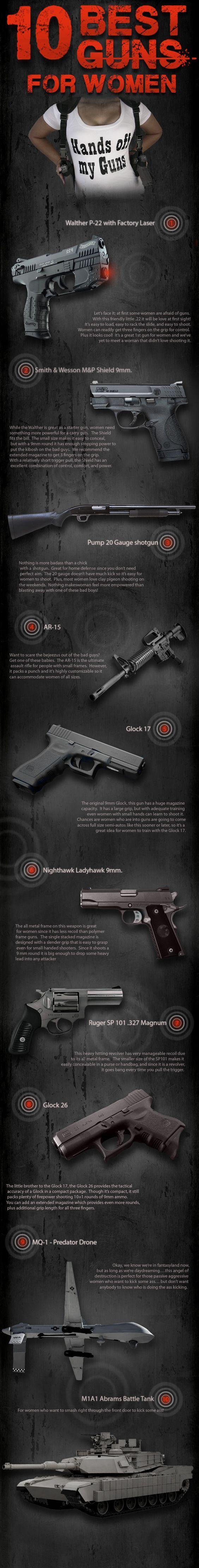 Best guns for women home self defense pinterest guns glock