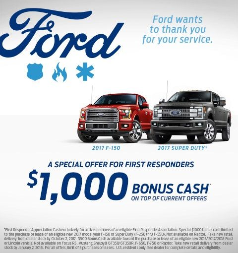 Stuart Powell Ford Wants To Thank All First Responders For Your