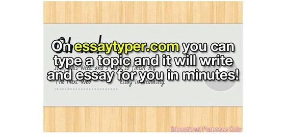 Speech essay typer