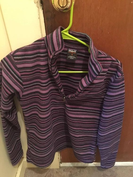 Patagonia #Capilene Fleece Pullover Purple Stripes Small Excellent Condition  #Patagonia #FleecePullover