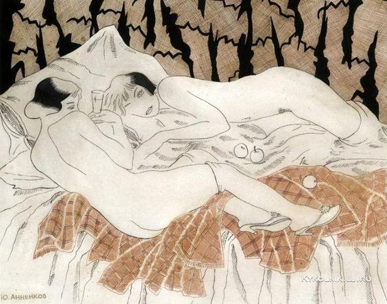 двое обнажённых в постели картинки