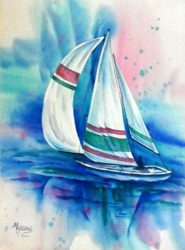 Sailing the clear blue waters. Martha Kisling Fine Art