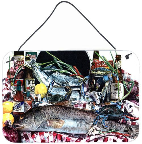 Fish and Beers from New Orleans Indoor Wall or Door Hanging Prints