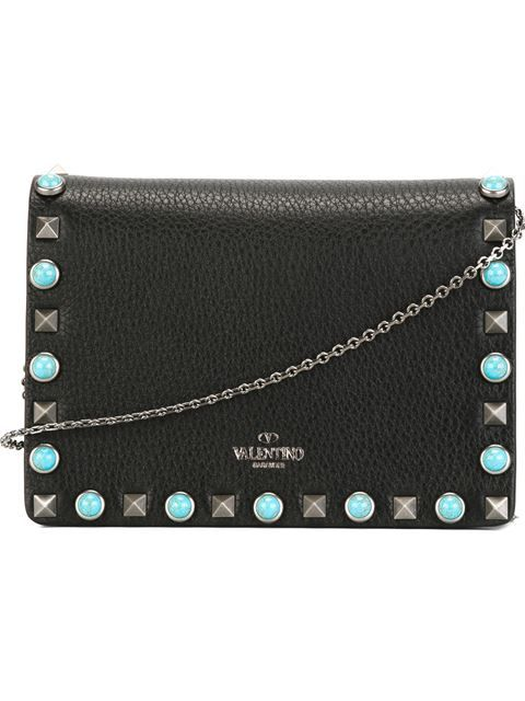 VALENTINO 'Rockstud Rolling' Crossbody Bag. #valentino #bags #shoulder bags #leather #crossbody #